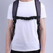 2Pcs Adjustable Bag Backpack Webbing Sternum Chest Harness Buckle Clip Strap Set