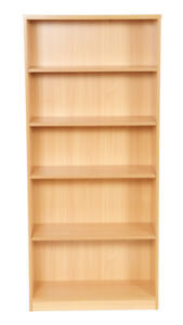 1800mm High Bookcase With 2 Shelves Beech (WxDxH) 800x360x1800mm