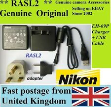 Genuine NIKON EH-69P AC ADAPTER S6150 S6200 S6300 S6000 S9100 S1000pj S1200pj