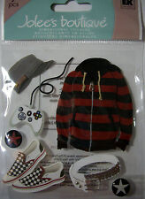 NEW 7 pc ALTERNATIVE BOY Hoodie Hat Game Boy Belt Shoes JOLEE'S 3D Stickers