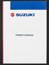 Genuine Suzuki Motorcycle Owners Manual For Dr125Sm (2009-2010) 99011-24H50-01A