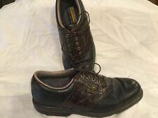 FOOTJOY 53494 AquaFlex DRYJOYS 10 Croc AQUA FLEX Saddle Golf Shoes WATERPROOF