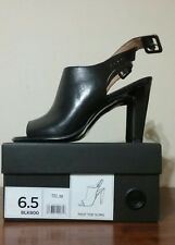 NIB Banana Republic Leather Peep Toe Sling Shoes Size 6.5 Black