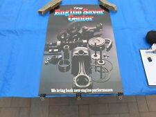 Vintage 1980's TRW Engine Parts Paper Auto Parts Speed Shop Store Poster Rare