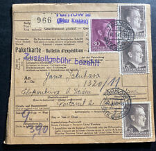 1943 Tarnow Poland to Germany Parcel Cover Flossenburg KZ Concentration Camp