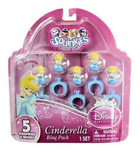 Squinkies Disney Princess Cinderella Pack of 5 Squinkies & Rings
