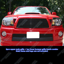 Fits 05-10 Toyota Tacoma Black Billet Grille Grill Combo Insert