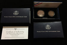 Us Mint World War Two 50th Anniversary Proof Coin Set (pristine condition)!