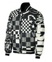 Nike Sportswear Check Scorpion Black White Jacket AR1632 133 Men's Size Large