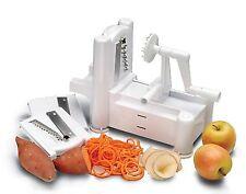 TRI LAMA SPIRALE CHOPPER PELAPATATE verdure frutta spiralizer Slicer Cutter
