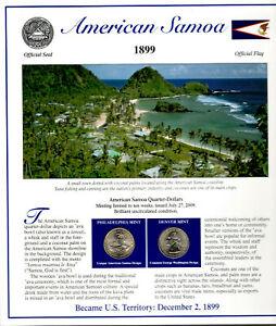 American Samoa Quarters P&D 2009 (Postal Panel Collection) PCS