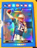 Rare 2008 Topps Chrome Blue Refractor Patriots Tom Brady PSA?