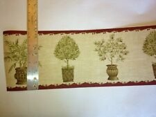 Trees And Other Potted Plants Prepasted Wallpaper Border #Nkb4543