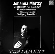 SEALED 180g - JOHANNA MARTZY / Mendelssohn Concerto/ UK EMI TESTAMENT SBTLP 1483