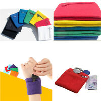 Wrist Sweatband Athletic Travel Armband Wallet Sports Wristband Zipper Pocket