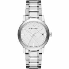 Burberry BU9000 Sunray Large Check Silver Stainless Steel 38mm Unisex Watch