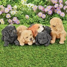 Adorable Realistic Happy Puppy Dogs Indoor/Outdoor Garden Statue