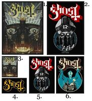Ghost Patch Embroidered Patches Music Heavy Black Metal Rock Concert Official