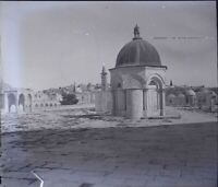 Siria Damas Moschea, Negativo Foto Stereo Placca Lente PL59OY4