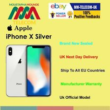 BRAND NEW SEALED FACTORY UNLOCKED IPHONE X IPHONE 10 256GB SILVER UK SPEC