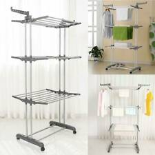 3 Tier Clothes Airer Dryer Rack Foldable Dry Rail Hanger Laundry Indoor Outdoor