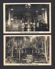 Malaya Penang vintage real photo TEMPLE postcards (3)