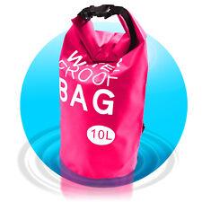 Dry Bag Waterproof Bag 10 L wasserfester Beutel Seesack Segeltasche Rosa Pink