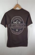 Orange County Choppers Brown Short Sleeve Logo T-Shirt Rock Tavern New York Smal