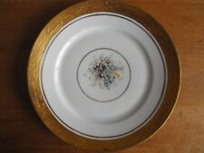 Rosenthal Selb Bavaria China 7.5 inch Plate Gold Edge Floral Center 1920-30's