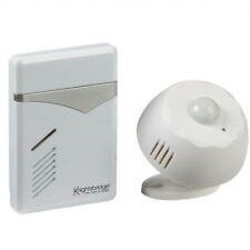 100m Wireless PIR Sensor Door Bell Chime In White - Visitor Alert 100m Range