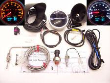 RSR Abgastemperatur Anzeige 4 in 1 Benzindruck Öldruck Öltemperatur EGT 60 Gauge