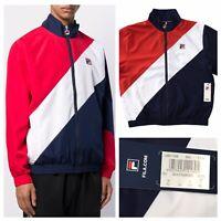 FILA Cruz Archive Windbreaker Diagonal Stripe Track Jacket Size XL NEW RRP £65