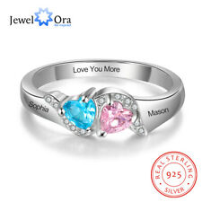 925s Birthstone Women Bracelets Multilayer Infinity Love Engrave Names Bangle