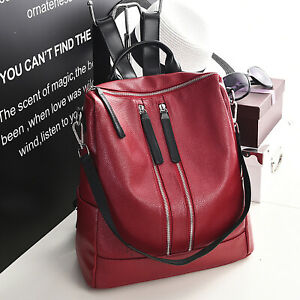 Damen Rucksack Leder Damentasche Frauenrucksack Mädchen Rucksack Shopper Leder