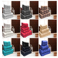 8Pcs Boston 100%Cotton Striped Bale Gift Set Face/Hand/Bath Towel Soft Absorbent