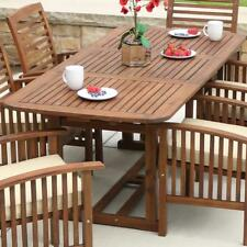 Patio Dining Table Extendable Wood Hide Away Butterfly Leaf Outdoor Furniture