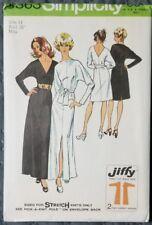 SIMPLICITY SIMPLE-TO-SEW DRESS ORIG PATTERN 5363 SZ 14 UNCUT FACTORY FOLDED 1972