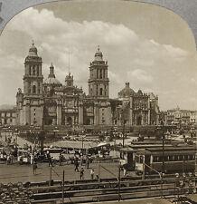 Keystone Stereoview Cathedral de la Constitucion, Mexico RARE 1200 Card Set # 77