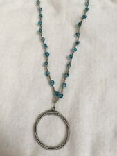 with Circular Charm Handcrafted Crochet Beaded Necklace