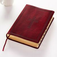 Holy Bible KJV Super Giant Print,Thumb INDEXED ,Red Letter,Burgandy