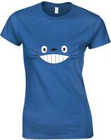 Totoro Smile Face, Ladies Printed T-Shirt