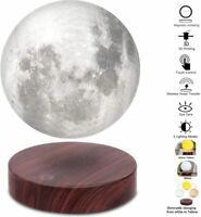 Levitating Moon Lamp,Floating and Spinning in Air Freely with Luxury Wooden Base