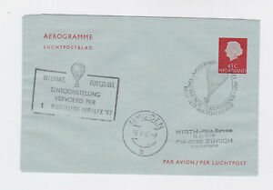 netherland 1967 45c aerogramme cover with balloon cancel.     l2044