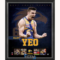 Elliot Yeo West Coast Eagles Football Club Official Licensed AFL Print Framed