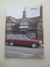 1979 Mercedes 280TE automobiles advertising brochure