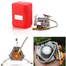 Portable Camping Butane Gas Burner Split Type Stove Head + storage box 30cm Hose
