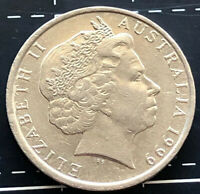 1999 AUSTRALIAN 10 CENT COIN - RARE RIM / DATE VARIETY MINT ERROR