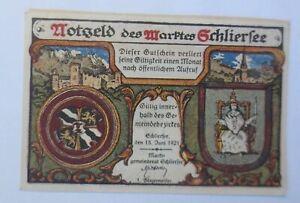 Notgeld des  Maktes Schliersee, 10Pf.  18 Juni 1921  ♥ (58065)