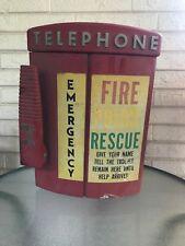 Vintage WESTERN ELECTRIC  Red Metal Telephone Box Emergency Fire