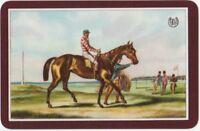 Playing Cards 1 Single Swap Card Old Vintage HORSE RACING Jockey TURF ACCOUNT 1